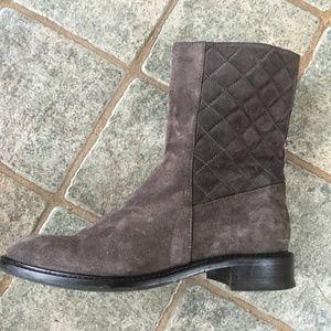 Aquatalia gray suede weatherproof boots 7.5
